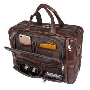 Men's briefcase with compartments